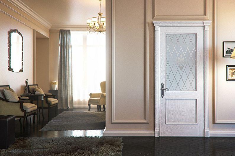 Portes blanches à l'intérieur - Avantages et inconvénients
