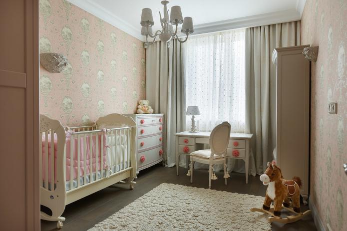 intérieur de chambre à coucher pour une fille nouveau-née
