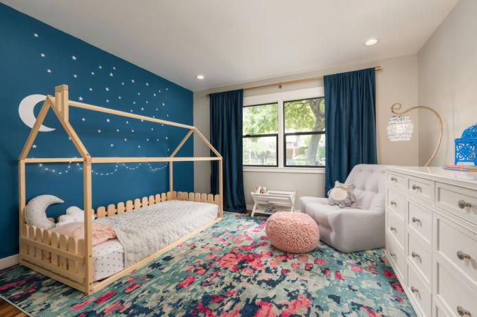 intérieur de chambre pour une fille de 3 à 5 ans