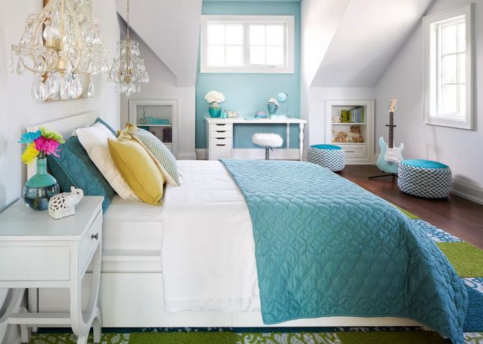 schéma de couleurs de l'intérieur de la chambre pour une fille