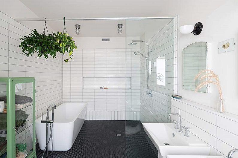 Salle de bain loft blanc - Design d'intérieur