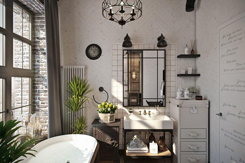 Conception de salle de bain loft - Caractéristiques