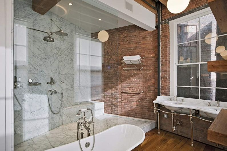 Salle de bain Loft Terre Cuite - Design d'intérieur