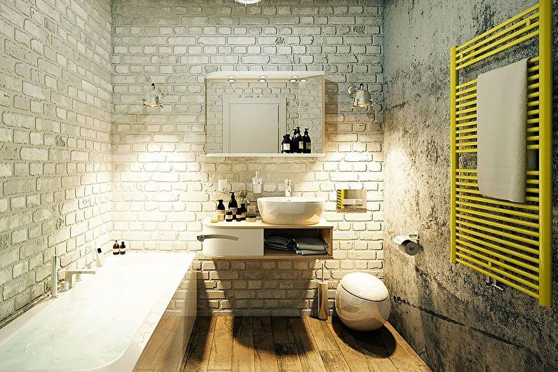 Salle de bain style loft gris - Design d'intérieur