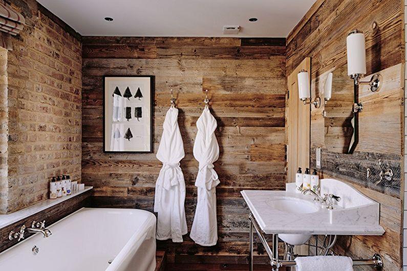 Salle de bain loft marron - Design d'intérieur