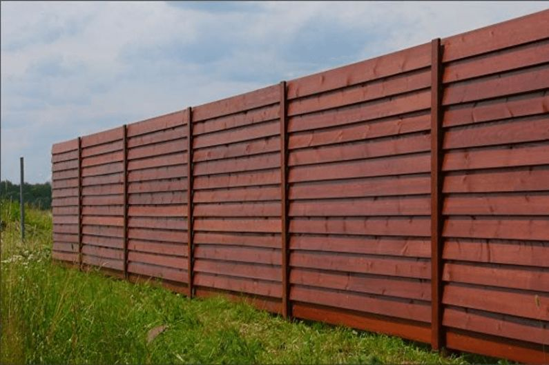 Types de clôtures en bois - Clôture en bois à chevrons