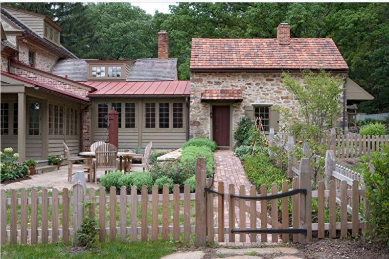 Types de clôtures en bois - Ranch