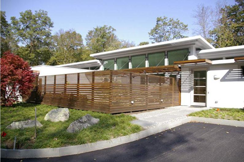 Types de clôtures en bois - Clôture horizontale