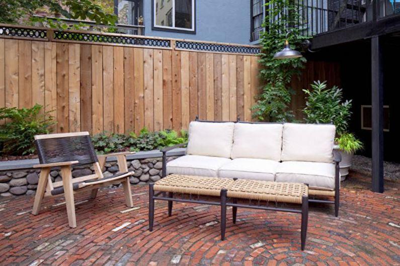 Types de clôtures en bois - Clôture combinée en bois