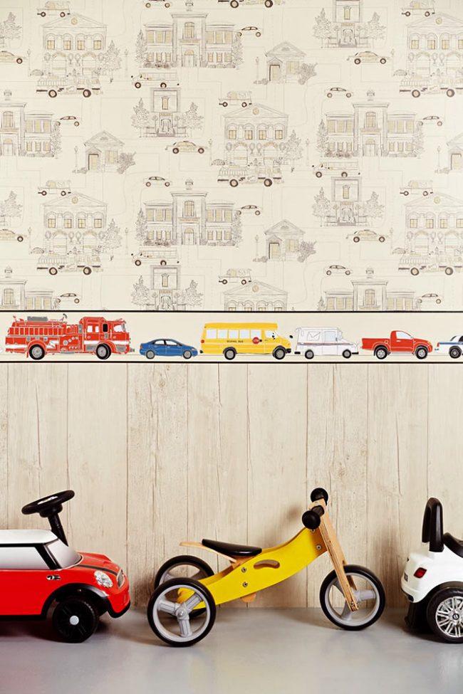 Papier peint clair intéressant pour une chambre d'enfant