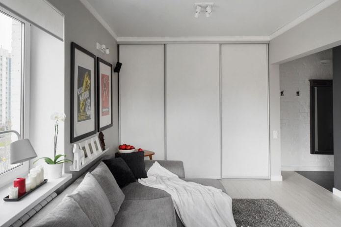 disposition des meubles à l'intérieur d'un studio