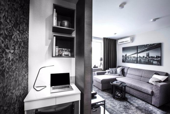 espace de travail à l'intérieur d'un studio