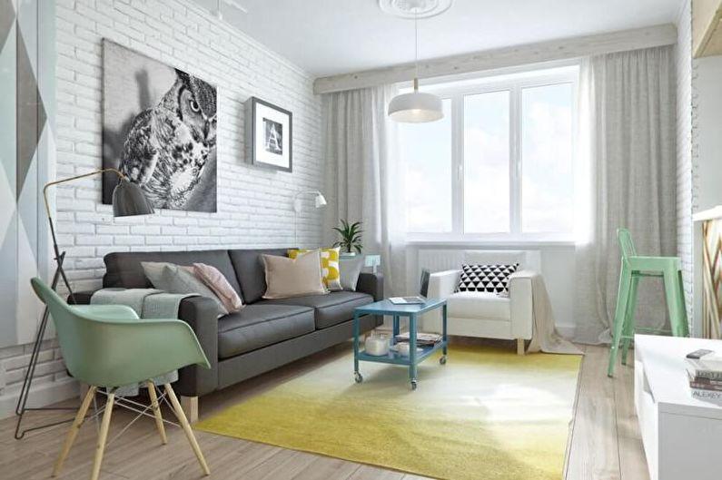 Salon Scandinave Vert - Design d'Intérieur