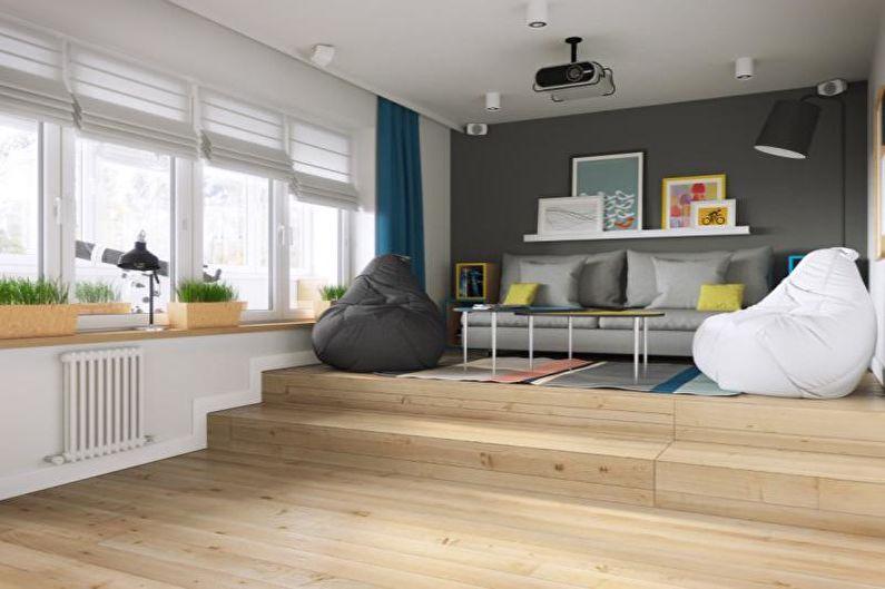 Design de salon scandinave - Finition au sol