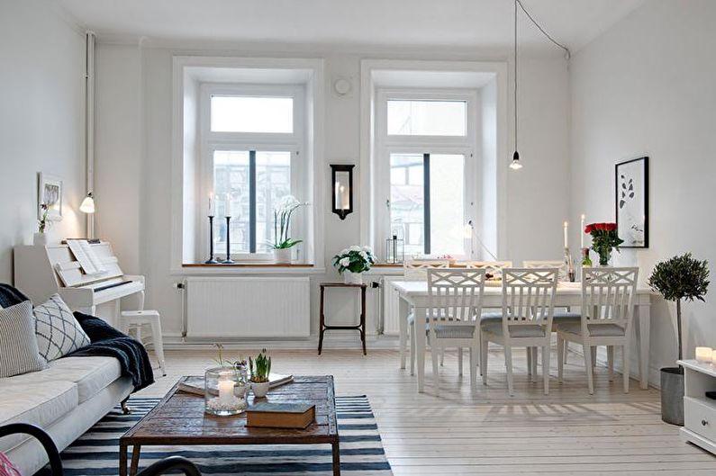 Salon Scandinave Blanc - Décoration d'intérieur
