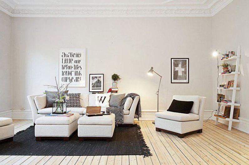 Design de salon scandinave - Décorations murales