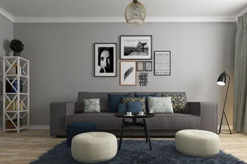 Design de salon de style scandinave - Décoration plafond