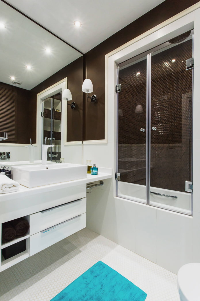 Cabine et bain