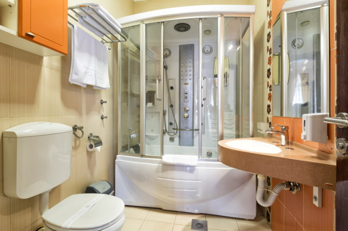Cabine de douche avec baignoire
