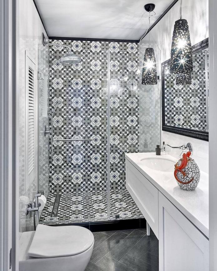 Eclairage salle de bain avec douche