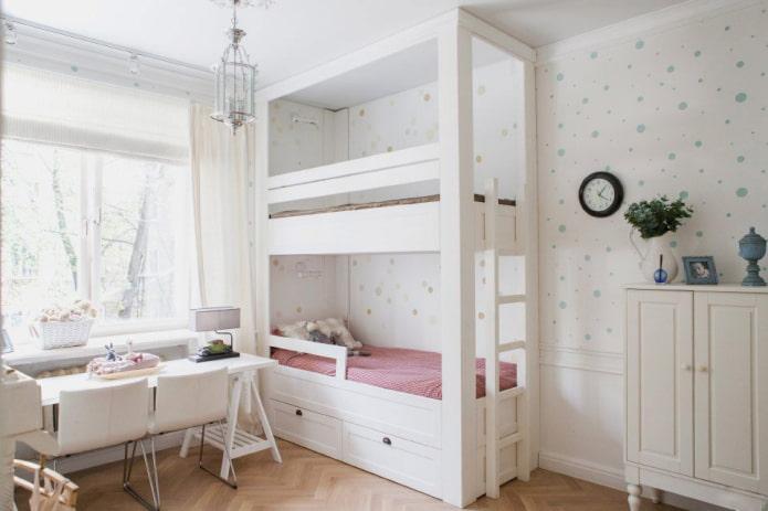 aménagement d'une petite chambre pour deux filles
