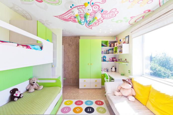 finir une chambre pour deux filles