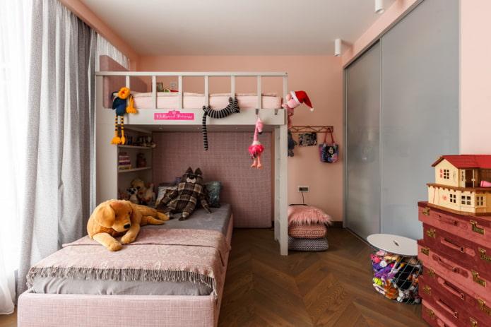 aménagement d'une chambre pour deux filles