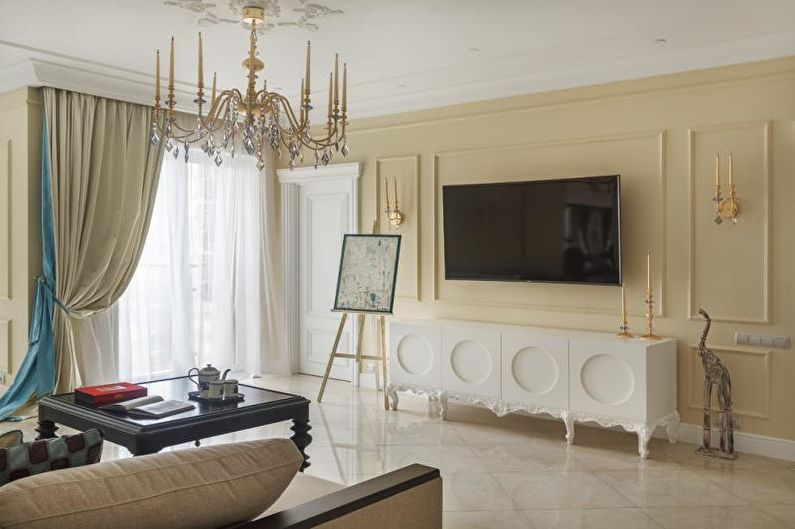 Rideaux verticaux standard - Conception de rideaux de salon