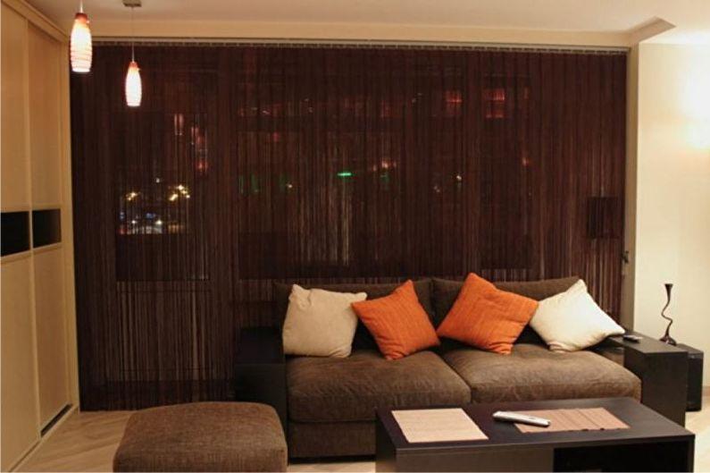 Conception de rideaux pour le salon - Kiseya