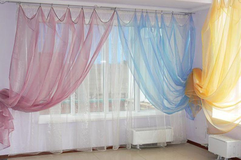 Conception de rideaux pour le salon - Organza