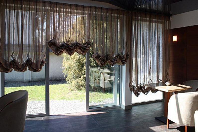 Rideaux autrichiens - Conception de rideaux pour le salon