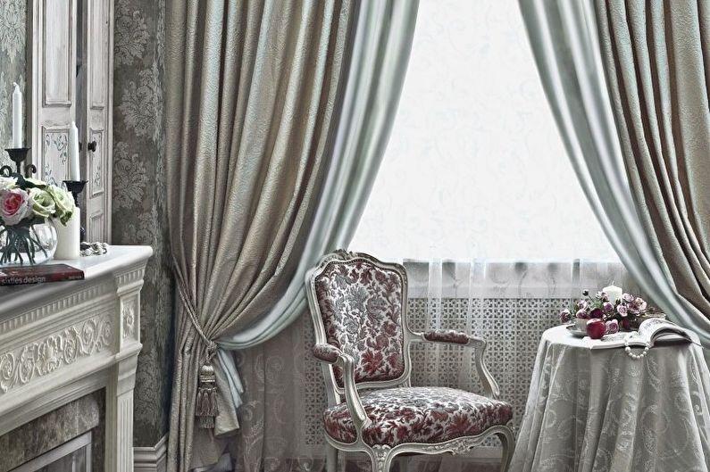 Conception de rideaux pour le salon - Jacquard