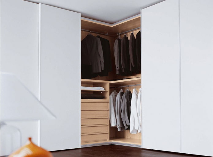 Armoire d'angle blanche