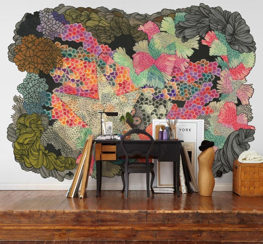 Motifs abstraits multicolores