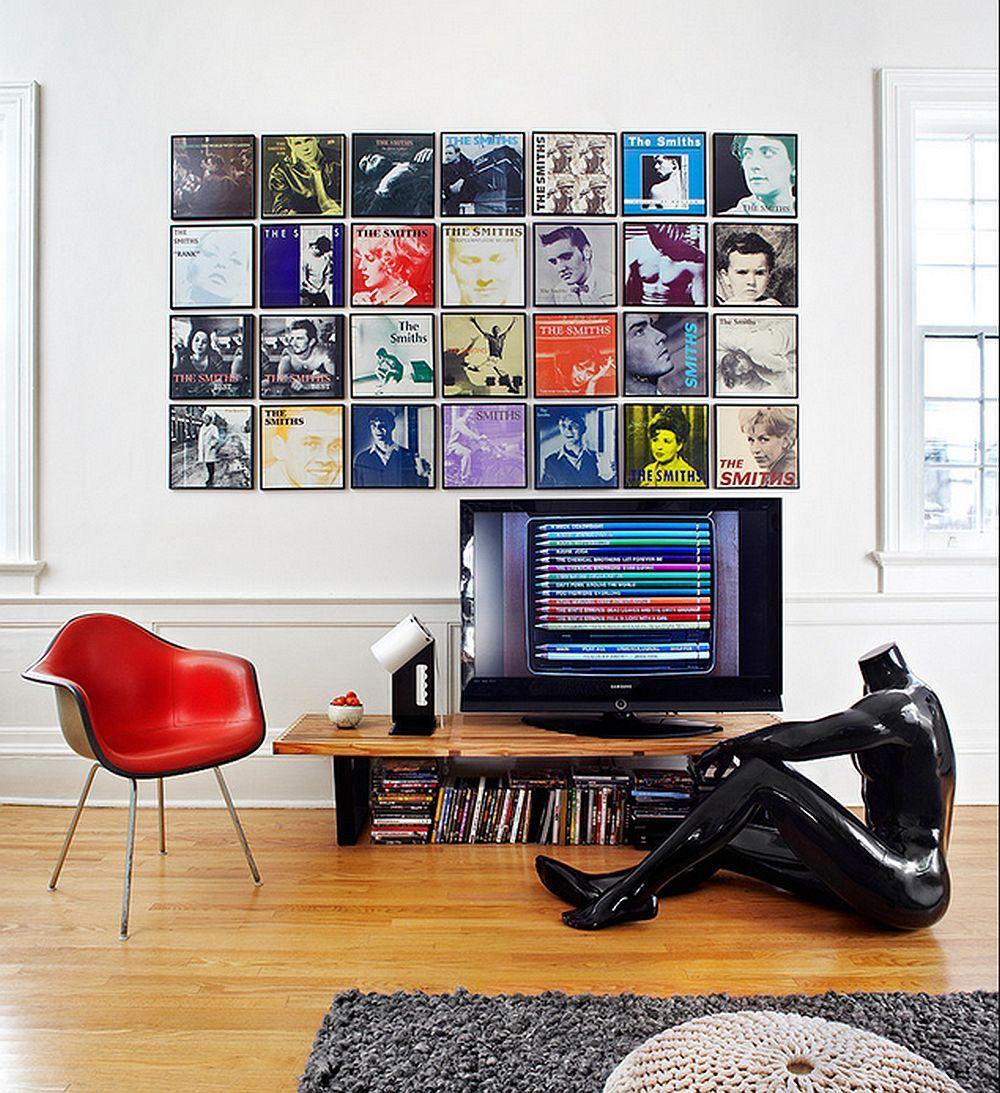 Une bonne collection de disques est une excellente option pour la décoration