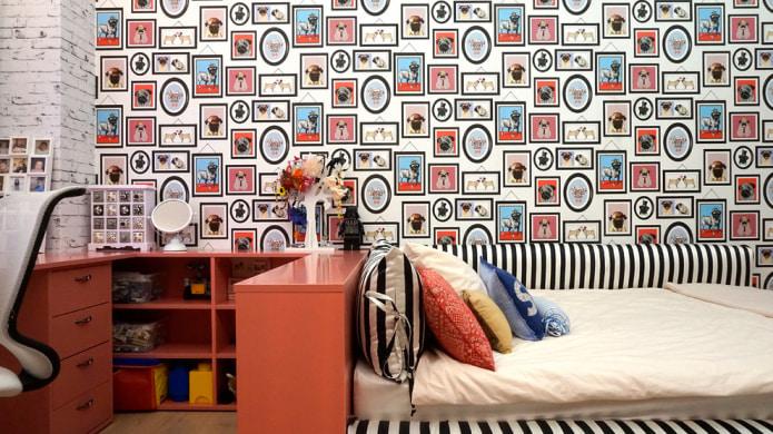 Papier peint pour une petite chambre d'enfant