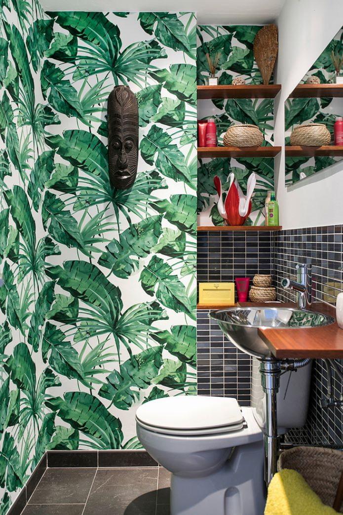 papier peint verdure