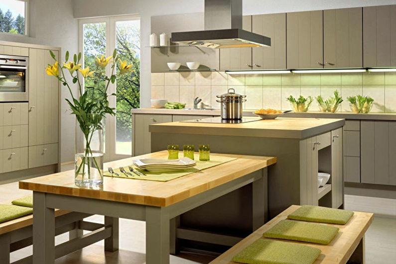 Cuisine verte de style écologique - Design d'intérieur