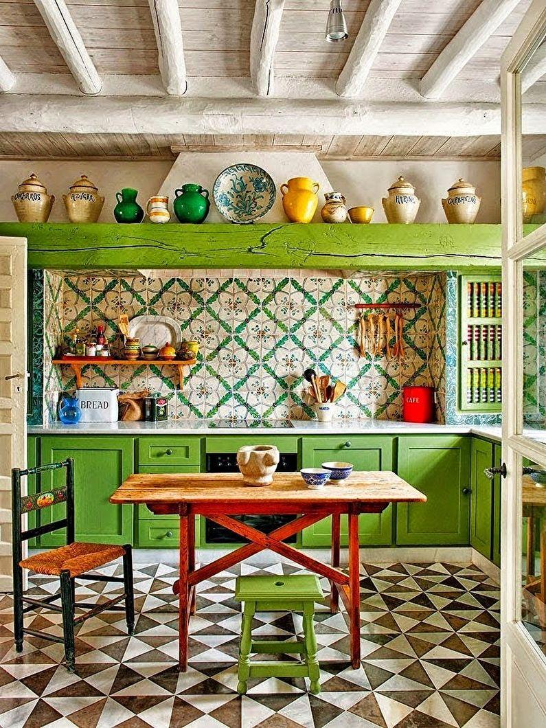 Cuisine verte méditerranéenne - Design d'intérieur