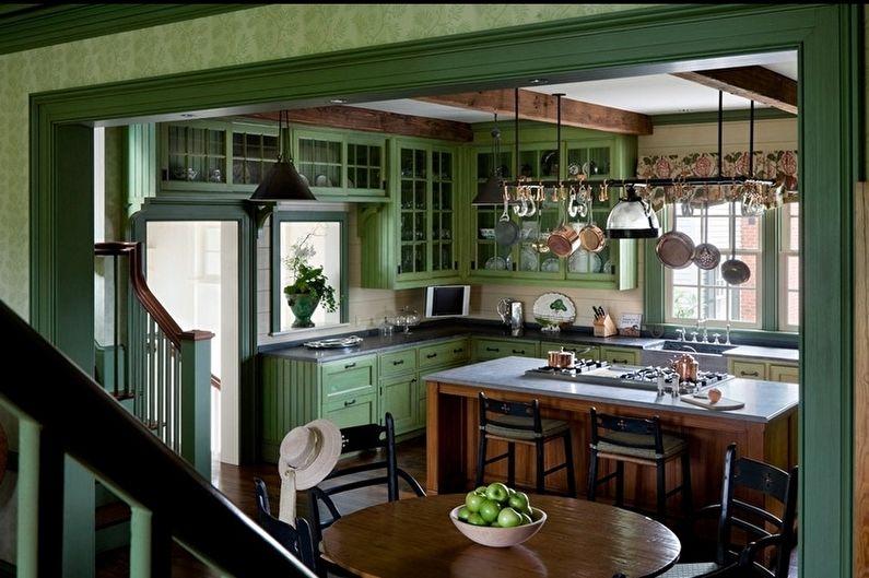 Country Green Kitchen - Design d'intérieur