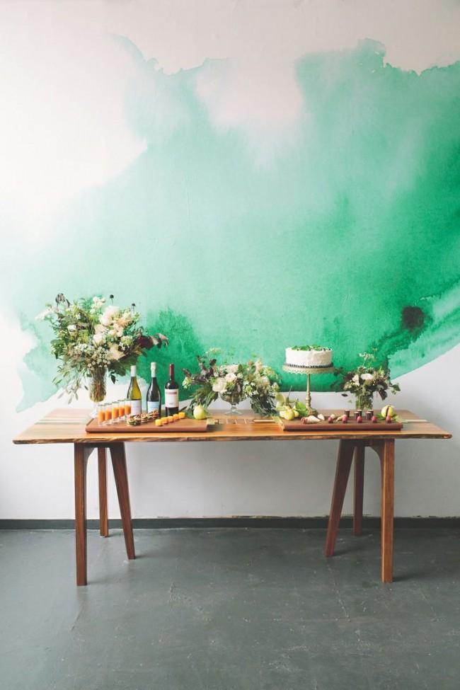 Simulez un effet aquarelle en utilisant de la peinture murale ordinaire