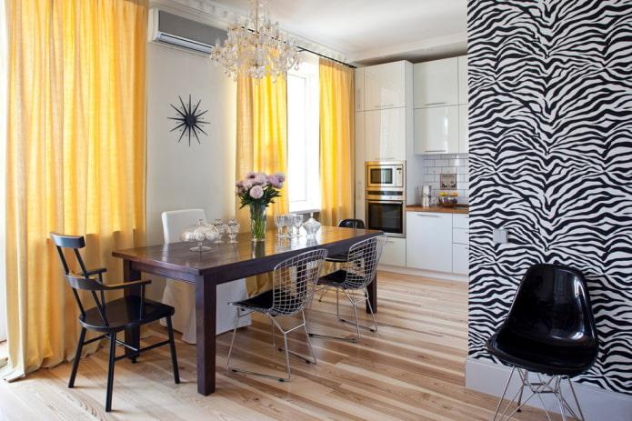 l'intérieur de la cuisine de l'appartement est de 36 carrés