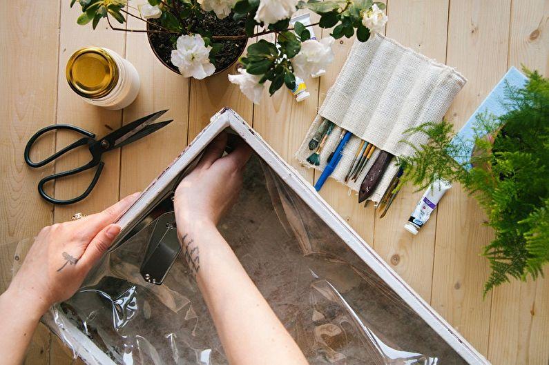 Pot de fleurs à faire soi-même dans une valise