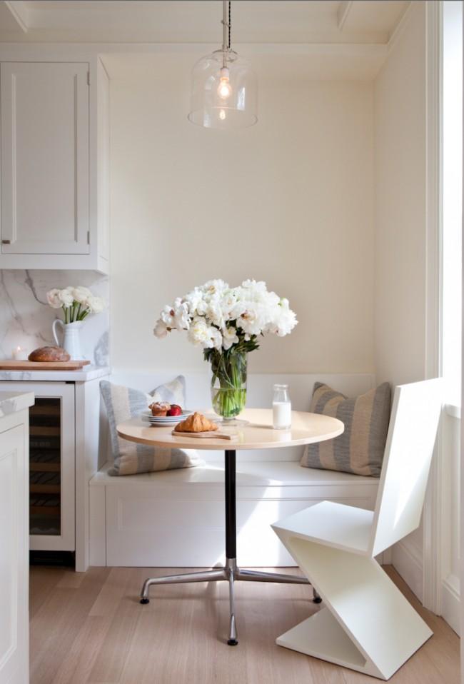 Lit de repos double dans une petite cuisine