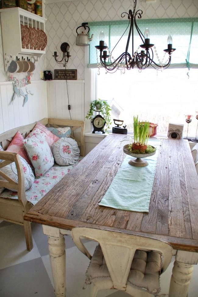 Canapé en forme de banc extérieur en bois