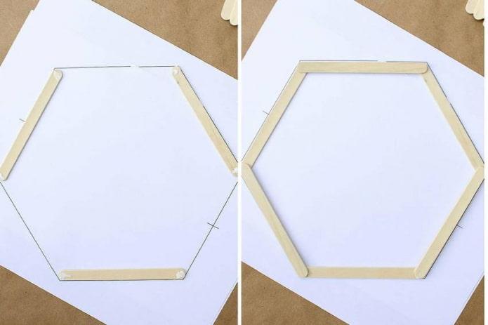 Le processus de création d'une étagère à partir de bâtons