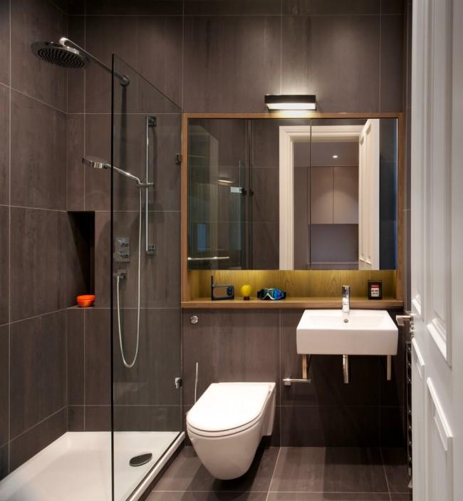 Petite salle de bain élégante avec douche