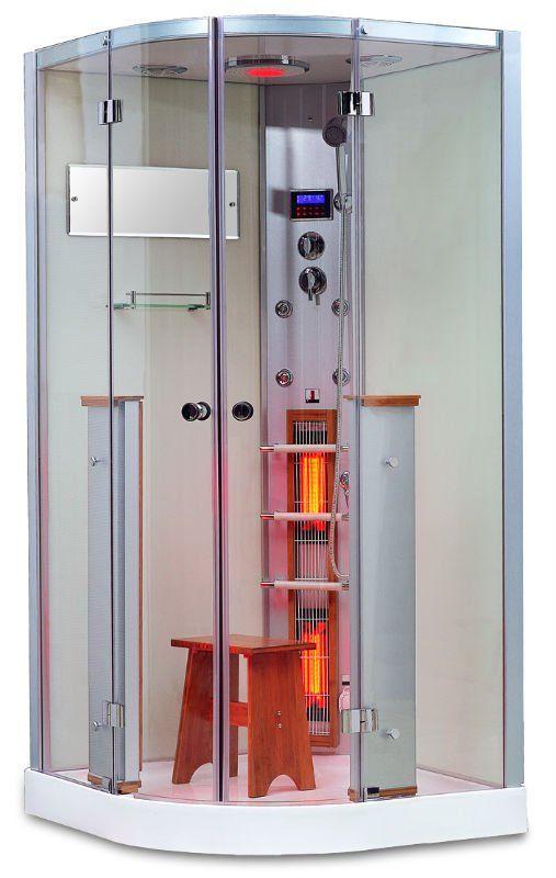 Cabine de douche avec sauna finlandais