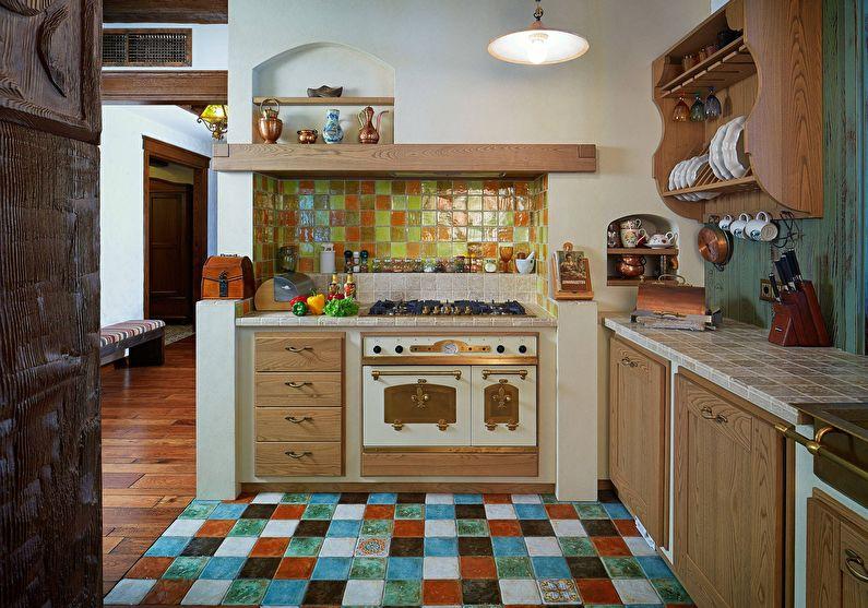 Design d'intérieur de cuisine de style campagnard