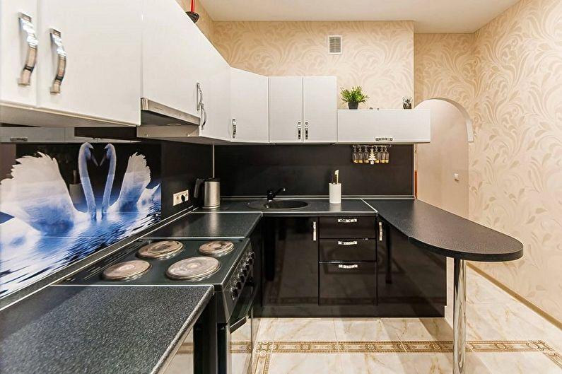 Set de cuisine pour une petite cuisine - Aménagement d'angle